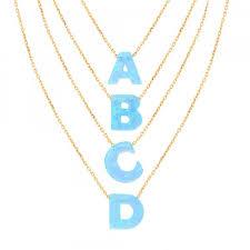 opal g initial necklaces lucky eyes london fenwick of bond street