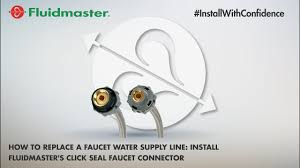how to change a kitchen faucet how to replace a faucet water supply line install fluidmaster u0027s