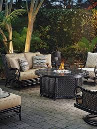 marimba gas fire pit dual source lexington home brands