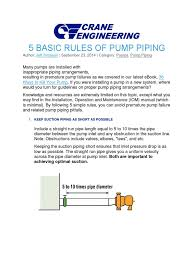 5 basic rules of pump piping gas technologies pump