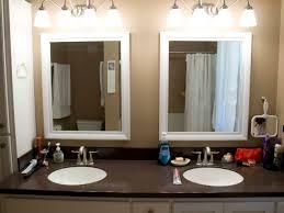 bathroom mirror frames kits recessed medicine cabinet custom diy
