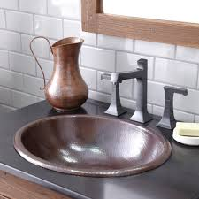 rolled classic copper bathroom sink native trails