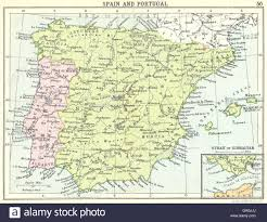 Portugal Spain Map by Spain Spain And Portugal Inset Map Of Strait Of Gibraltar Small