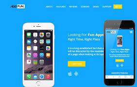 app fun v2 a mobile app landing flat bootstrap responsive web