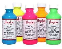 angelus acrylic paints neon 4 oz all color great pair store