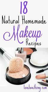 18 homemade makeup recipes