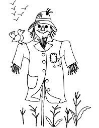 coloring pages of autumn amazing scarecrow coloring pages autumn scene with page free