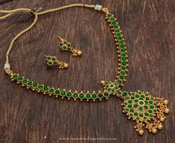 green stone necklace set images One gram gold plated green stone necklace jewellery jpg