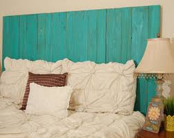 Turquoise Bed Frame Rustic Bed Frame Etsy
