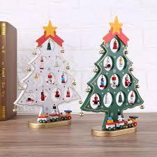 diy wooden ornaments festival tree table desk