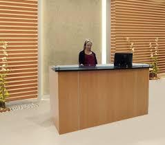 Furniture Reception Desk Custom Standing Height Glass Top Reception Desk Series 6 W Desk
