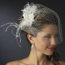 fashioned hair feather austrian crystal bridal veil comb elegant bridal hair