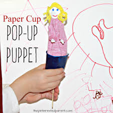 paper cup pop up puppet u2013 the pinterested parent