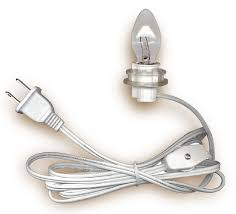 electric cord with light bulb l cord sets with candelabra base light bulb national artcraft