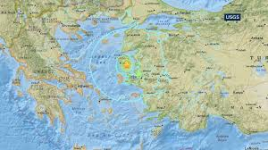 Map Greece by 6 2 Magnitude Earthquake Shakes Greek Islands Turkey 10 Hurt