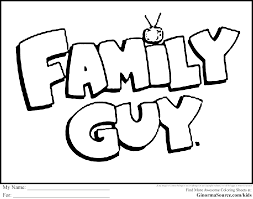 stewie griffin coloring pages family guy cartoon coloring pages