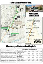 Utah National Park Map by Zion National Park Shuttle Schedule 2017 Zion Canyon Springdale