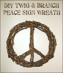 dishfunctional designs diy twig tree branch peace sign wreath