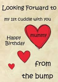 a5 personalised happy birthday mummy 1st cuddle from the bump