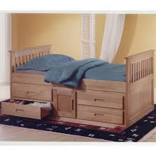 kids beds 3ft pine captains bed with underbed u0026 2 x sprung