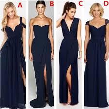 navy bridesmaid dresses cheap mismatched chiffon navy blue bridesmaid dresses