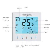 black friday wifi thermostat homgeek 2 pipe wifi thermostat touch screen temperature controller
