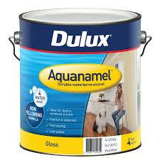 dulux aquanamel 4l white high gloss enamel paint bunnings warehouse