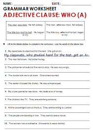brilliant ideas of relative clauses worksheets with answers with