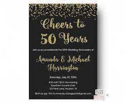 wedding anniversary invitations cheers to 50 years invitation 50th anniversary invitation