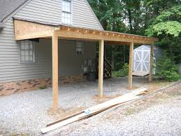 attached carport attached carport cost modern how to build a lean addition house