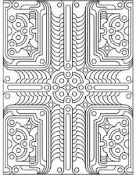 design coloring pages creative haven geometric allover patterns coloring book doodles