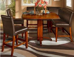 counter height dining table with bench cherry wood counter height dining set home design ideas and pictures