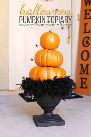 pumpkin topiary stacked pumpkin topiary see craft