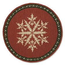 round snowflake rug by laura megroz