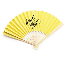 paper fans corporate logo personalized solid color paper fans