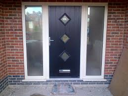 glass panel front door farmhouse black wooden front door combined frosted glass side