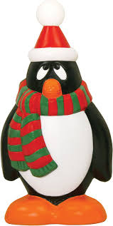 amazon com red and green holiday penguin 28 inch garden u0026 outdoor