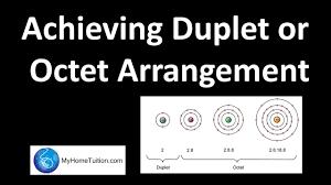 achieving duplet or octet arrangement i chemical bonds chemistry