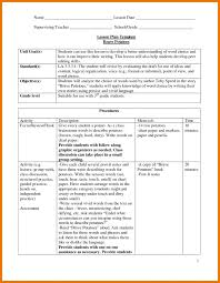 weekly lesson plan template doc elipalteco