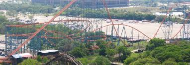Six Flags Giant Six Flags Over Texas Theme Park In Dallas Thousand Wonders