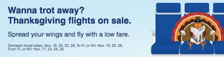 southwest thanksgiving fare sale save on new and existing flights