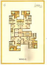 2 3 bhk floor plans of kanakia paris bkc mumbai