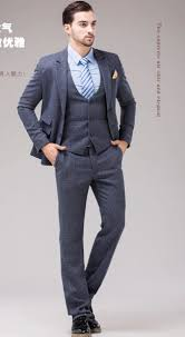 men business wedding suit set with vest male plaid suit fashion