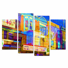 drop shipping home decor free shipping modern streetscape watercolor paintings dropship