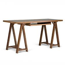 Solid Wood Office Desks Simpli Home Sawhorse Solid Wood Office Desk Medium