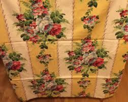 vintage fabric 2 shabby chic curtain panels pink dogwood flowers