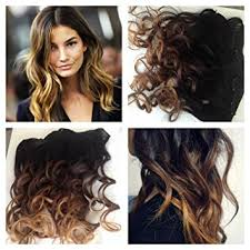 100 remy human hair balayage ombre clip in hair