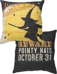 flying witch halloween decoration happy halloween flying witch pillow flying witch happy