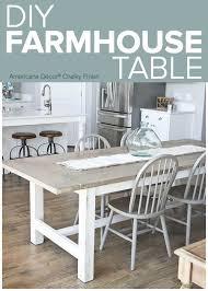 white farmhouse kitchen table white farm table home plans