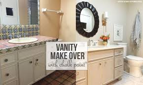 what paint is best for bathroom cabinets remodelaholic chalk paint bathroom vanity makeover